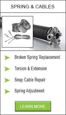 Bullet list of spring & cable services